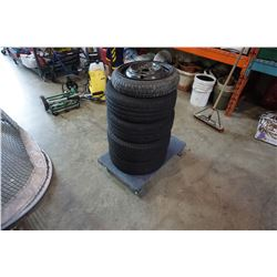 SET OF MICHELIN P175/ 70 R13 TIRES ON 4 BOLT HONDA RIMS AND SPARE TIRE
