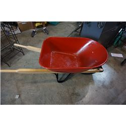 RED METAL WHEEL BARROW 6 CUBIC FOOT