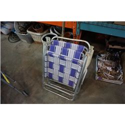 LOT OF FOLDING PATIO CHAIRS