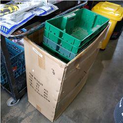 BOX OF VARIOUS PARTS BINS