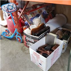 3 BOXES HOUSEHOLD, ESTATE ITEMS AND MORE