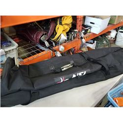4 GOLD BAGS 3 W/ CLUBS AND TRAVEL BAG