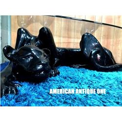 132cm Black Panther / Glass Table