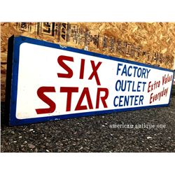 Indiana 121cm Six Star Factory Outlet Center wooden sign