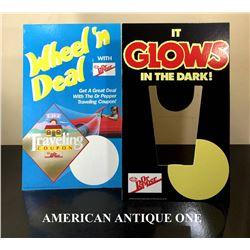 1988 Dr. Pepper shop display 2-piece set