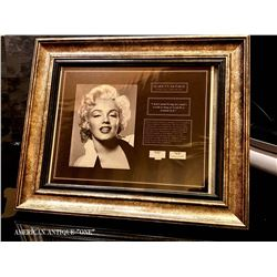 Marilyn Monroe's hair and a piece of worn dress / certificate (5 pieces)