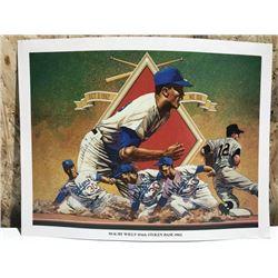 1962 Los Angeles Dodgers Baseball Mini Poster