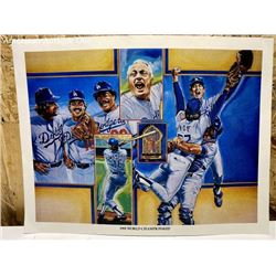 1981 World Championship Dodgers Baseball Mini Poster