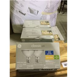 Case of 3 GE Classic LED 3000k Bulbs 2-Pack