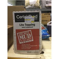 Case of CertainTeedLite Topping Drywall Compound (17L)