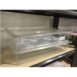 NSF CamwearDeep Clear Food Pan w/ Lid (12L) Lot of 2