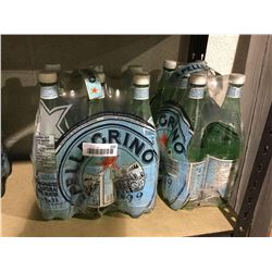 San Pellegrino Carbonated Natural Spring Water (6 x 1L) Lot of 2