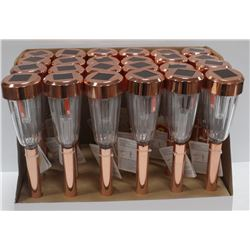 CASE OF 24 COPPER COLOURED SOLAR LIGHTS