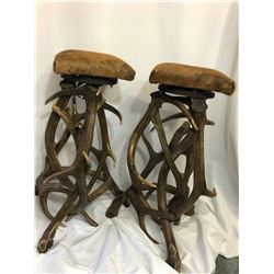 Custom Made Elk Antler Bar Stools
