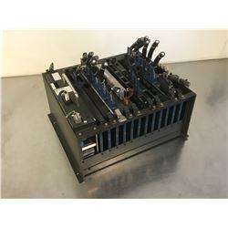 OKUMA OPUS 7000 CPU/IF RACK E7191-855-019-2 W/ POWER BOARD UNIT E0451-521-094