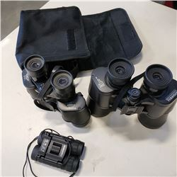 BUSHNELL 10X50 INSTA FOCUS BINOCULARS AND OTHER BUSHNELL BINOCULARS