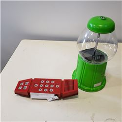 GREEN GUMBALL MACHINE AND MERLIN GAME