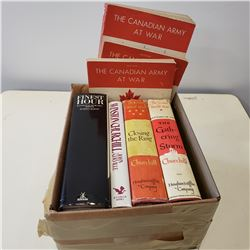 CANADIAN ARMY AT WAR BOOKLETS AND VINTAGE BOOKS