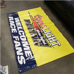 5 FT BY 3 FT COORS LIGHT BANNER