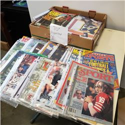 TRAY OF 70 SPORTS MAGAZINES