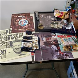 LOT OF VINTAGE COLLECTIBLES INCLUDING ELVIS, ROY ROGERS, AND MORE