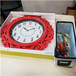 NEW WALL CLOCK AND LOT OF KIDS WATCHES