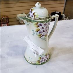 ANTIQUE NIPPON HAND PAINTED TEAPOT