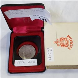 1976 RCM BOXED CANADIAN DOLLAR COIN MS 63