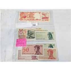 9 BANK NOTES INDONESIA