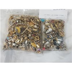 2 SMALL BAGS OF JEWELRY