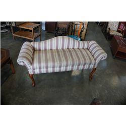QUEEN ANNE UPHOLSTERED SETTEE
