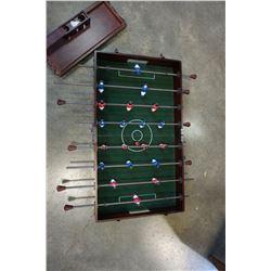 PORTABLE TABLE TOP FOOSBALL TABLE