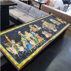 LARGE EASTERN PAINTING ON CANVAS