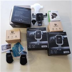 LOT OF NEW VEHICLE MAGNETIC,SUCTION AND VENT CLIP ON PHONE MOUNTS