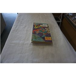 LOT OF VINTAGE SUPERMAN BAGGED AND BACKED COMICS
