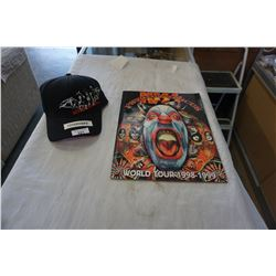 KISS WORLD TOUR PROGRAM AND NEW HAT