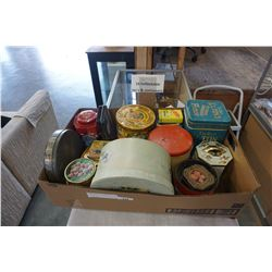 16 COLLECTIBLE TINS AND CONTAINERS