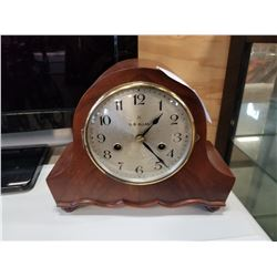 OB ALLEN MANTLE CLOCK WITH KEYS AND PENDULUM