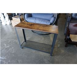 BRAND NEW INDUSTRIAL MODERN CONSOLE TABLE - RETAIL $299.99