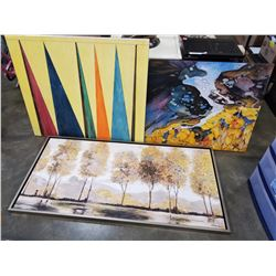3 CANVAS PAINTINGS