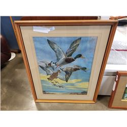 MALLARD BY LYNN BOGUE HUNT PRINT 1960 DEATH OF ARTIST