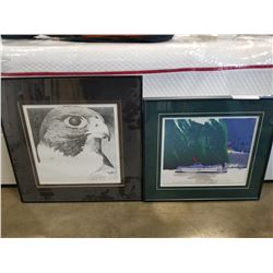 FALCON LEP LITHOGRAPH AND QUEEN OF VANCOUVER ARTISTS PROOF 9/10