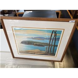 AFTERNOON SUN NORTH SHORE LAKE SUPERIOR PRINT BY LAWREN HARRIS