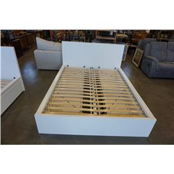 WHITE DOUBLE SIZE IKEA BED FRAME W/ STORAGE