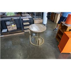 METAL BASE END TABLE