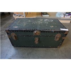 VINTAGE ROYAL AIR FORCE TRUNK - WING COMMANDER FM SMITH