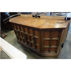 ZENITH CONSOLE STEREO WITH RECORD PLAYER AND 8 TRACK PLAYER