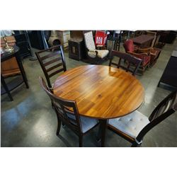MODERN DROPLEAF DINING TABLE WITH 4 CHAIRS