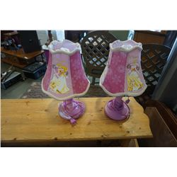 2 KIDS TABLE LAMPS