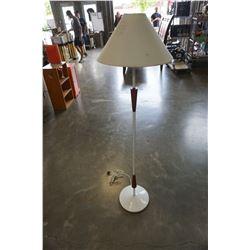 MCM TEAK AND METAL FLOOR LAMP